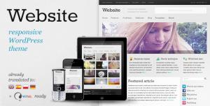 $45  Website - Responsive WordPress Theme