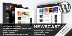 $45  Newscast 4 in 1 - WordPress Magazine and Blog