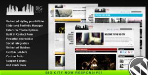 $45  Big City - Personal and Blog WordPress theme