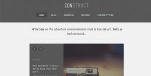 $45  Construct  a Responsive WordPress Blog-Folio Theme