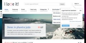 $45  I Love It! - Content Sharing WordPress Theme