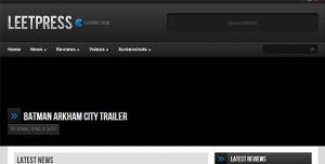 $45  LeetPress - A Gaming WordPress Theme
