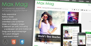 $45  Max Mag - Responsive WordPress Magazine Theme