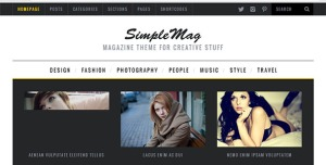 $45  SimpleMag - Magazine theme for creative stuff