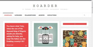 $50  Hoarder- Responsive WordPress Blog Theme