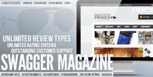 $50  SwagMag - WordPress Magazine-Review Theme