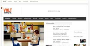 $55  Volt - Magazine -Editorial WordPress Theme