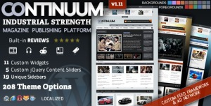 $45  Continuum - Magazine WordPress Theme
