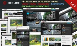 $45   deTube - Professional Video WordPress Theme
